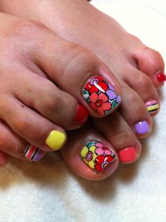 Toe Nail Art Designs Awesome Pedicures Just Got Better with these 50 Cute toe Nail Designs Simple Toe Nails, Cute Toe Nails, Hot Nails, Fancy Nails, Toe Nail Art, Pretty Nails, Pretty Toes, Toenail Art Designs, Nail Ideas