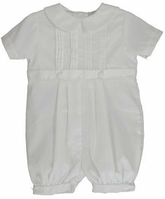 6744545dd White Cotton Blend Pique Christening Baptism Knicker and Hat - Size 24 Month
