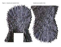 Games of Thrones. Construction of the Iron Throne in papercraft pg2