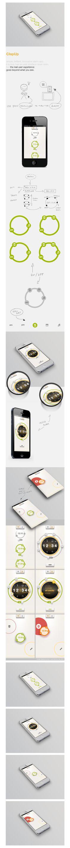 ClapUp - iOS simple and brillant alarm's App