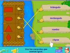 Las formas en Primer ciclo de Primaria - juego relacionar nombre y figura