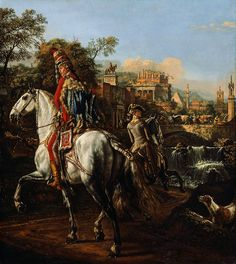 Equestrian portrait of a Polish hussar officer by Bernardo Bellotto, 1773 (PD-art/old), Kunsthistorisches Museum, commissioned by Stanislaus Augustus