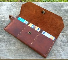 Womens leather wallet / Leather clutch / Ladies от Wallingandsons