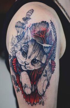Joanna Świrska Dzo Lama cat tattoo