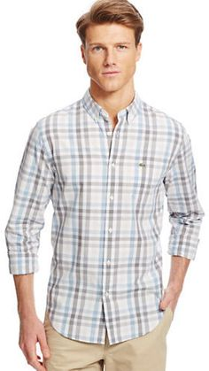 Lacoste Regular Fit Poplin Gingham Check Sportshirt  #Fashion #Men #Shirt  Currently on sale, buy here: http://mckayfashion.eu/ss/item/55ea8bae7fa561b8395d1d21