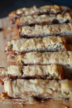 Chocolate Chip Banana Bread made with Greek Yogurt - Lovin' From The Oven