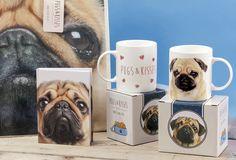 #Pugs&Kisses #hrnky #zápisníky #tašky - roztomilý #mopslík je vtipným dárkem!