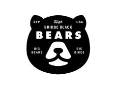St Paul Bike Gangs High Bridge Black Bears by Allan Peters Typography Logo, Graphic Design Typography, Logo Branding, Lettering, Bike Gang, Bear Images, Collateral Design, Bear Logo, Badge Design