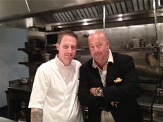 Love Michael Voltaggio at INK (here with Andrew Zimmern) via DeathbedFood