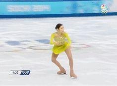 2014 sochi olympics - Yuna Kim does double axel flawlessly