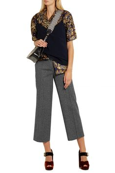 Prada - Cropped Wool-blend Mouline Straight-leg Pants - SALE20 at Checkout for an extra 20% off