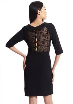 GABBY SKYE Dotted Lace Back Detail Dress