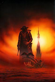 Mroczna Wieża tom I Dark Tower Comics, Dark Tower Art, The Dark Tower, Dark Art, Western Comics, Western Art, Dark Fantasy, Fantasy Art, Dark Tower Tattoo