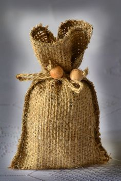 SET OF 50 Natural Rustic Burlap Wedding Favor Bag or Gift Bag 3x5 inches. $65.00, via Etsy.