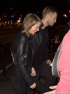 Pin for Later: Taylor Swift and Calvin Harris Hold Hands During Their Night Out