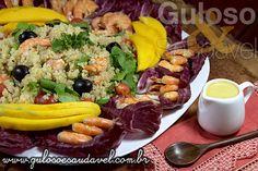 Receita de Salada de Quinoa com Camarão e Radicchio