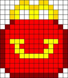 Happy Meal Perler Bead Pattern / Bead Sprite by Antwontheunicorn