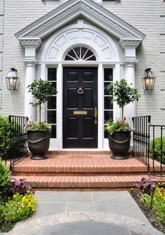 Black front doors are more popular and stylish than you think. As we've mentioned several times before, it's important to create a beautiful appearance for