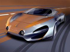 Alpine Concept Design Sketch by Arseniy Kostromin