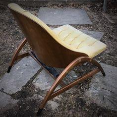 Rare Drexel Plywood Spring Bouncy Lounge Chair by BrainWashington