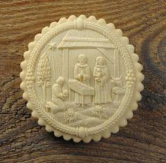 Springerle cookie: Nativity scene, from Emmas Springerle www.springerle.net