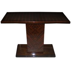 French Art Deco Exotic Macassar Ebony Console Table