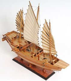 Chinese Pirate Junk Model Boat