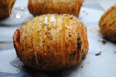 Hasselback aardappel Veg Recipes, Good Healthy Recipes, Potato Recipes, Great Recipes, Favorite Recipes, Xmas Dinner, Appetisers, What To Cook, Appetizer Recipes