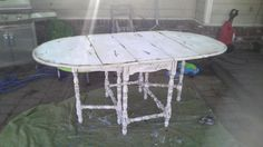 My table re-finished!