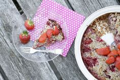 jordbær crumble tærte