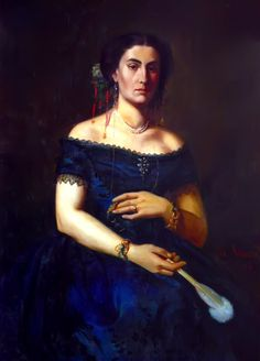 Portrait of Aristia Aman by Theodor Aman