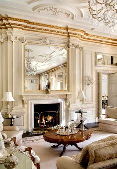 Sitting room in the magnificent Tobin Clark estate, Hillsborough, CA.