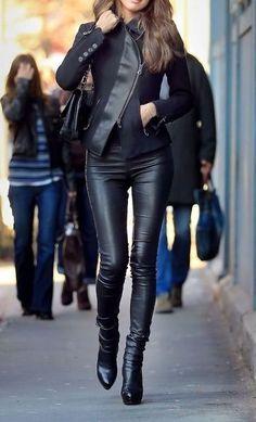 Sleek leather.