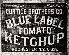 Rustic Kitchen Decor, Black and White Photography, Vintage Kitchen Art, Kitchen Wall Art, Tomato Ketchup Crate, Rochester New York.