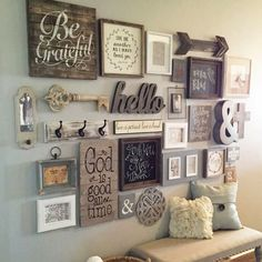 This Entry Way Gallery Wall Idea is perfect for any area in your home. Get your Gallery Wall Idea prints here. How To Create the perfect Gallery Wall. Vintage Market Days, Home And Deco, Home Projects, Rustic Decor, Rustic Style, Living Room Decor, Living Room Gallery Wall, Paris Room Decor, Kitchen Gallery Wall