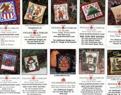 10 Mini-Card Set Collection B : cross stitch patterns Prairie ...