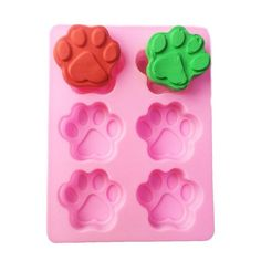 Yatim DIY Silicone Animal Footmark Dog Paws Shape Baking Mold for Homemade Soap, Cake, Cupcake, Bread, Muffin, Pudding, Jello, Bread, Cheesecake, Cornbread, Biscuit *** Learn more by visiting the image link.