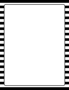 Black and White Striped Border