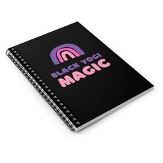 Black Yogi Magic Spiral Notebook - Ruled Line - Spiral Notebook