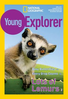 National Geographic Young Explorer (Student Magazine) April 2015. Read aloud book. Lots of Lemurs - Animals; Busy Butterflies - Environment; Every Drop Counts - Earth Science