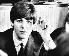 my gif 1k vintage the beatles Paul McCartney 1960s 60s the first u.s. visit gif…