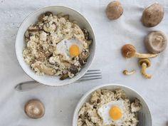 Perfecte paddenstoelen risotto