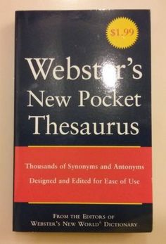 Webster's New Pocket Thesaurus by Laird