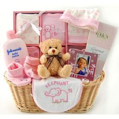 Auctionopia: New Arrival Baby Gift Basket - Girl