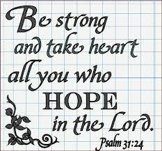 "Tim Tebow tweet -  ""Psalm 31:24""  (November 18, 2012)"