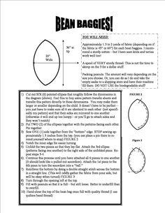 bean bag chair pattern - Google Search