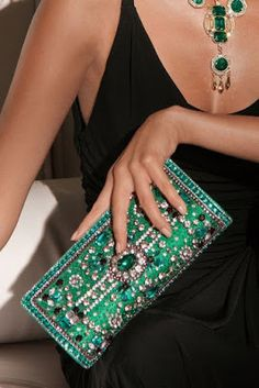 Boston Proper emerald Rhinestone clutch - LOVE IT! Emerald Color, Emerald Green, Merry Christmas Darling, Elegant Christmas, Green Christmas, Christmas Colors, Boston Proper, Holiday Fashion, Holiday Style