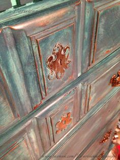 Dresser refinished in CeCe Caldwell Chalk & Clay Paints.  Layers of Santa Fe…