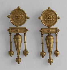 Gold earings, Fortunato Pio Castellani, 1860-1862, Rome, Italy