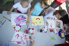 Paint Birthday Party - Party Activities